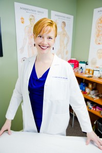 Leslie Smith, MD in a treatment room